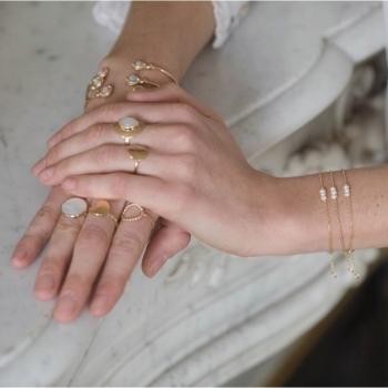 bracelet astrid trio de perles d'eau douce plaqué or