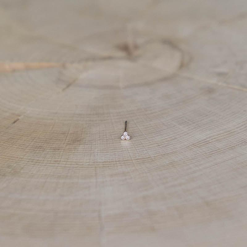 boucle Amy puce plaqué or zirconium