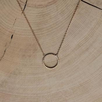 collier garance anneau torsadé plaqué or