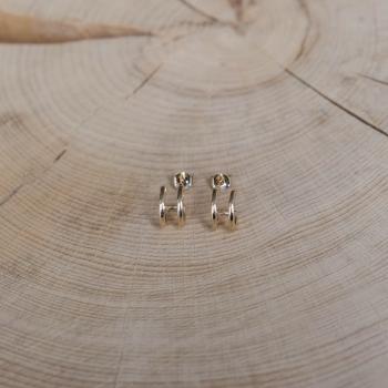boucles ninon doubles minis-créoles plaquées or