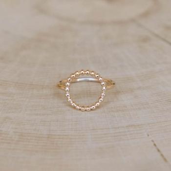 bague fine irène anneau perlé plaqué or