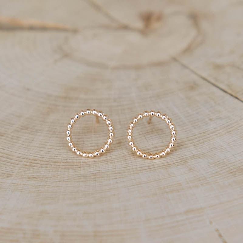 boucles irène anneaux perlés plaqués or