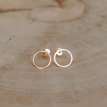boucle constantine anneaux fins plaqués or