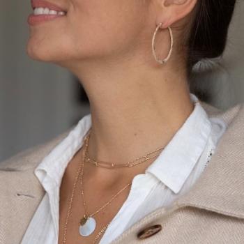 boucles sophia grand modèle créole plaquée or aspect mat