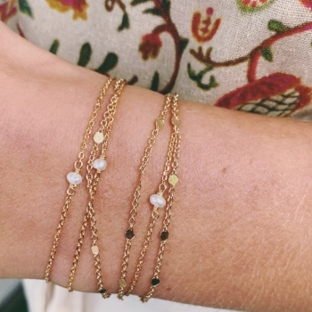 bracelet fin diane plaqué or