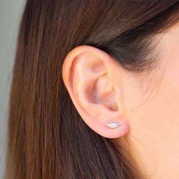 Boucle d'oreilles Baptista plumes plaqué or