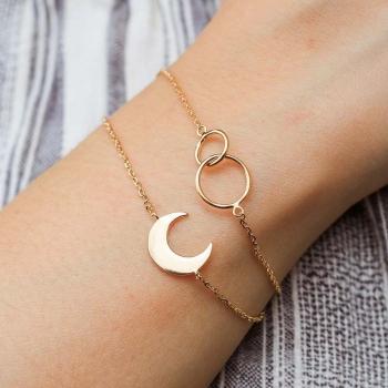 Bracelet plaqué or Fidès anneaux entrelacés