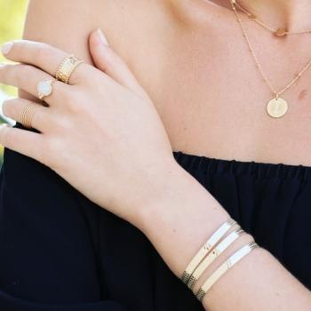 collier foucauld plaqué or médaillon soleil chaine perlée