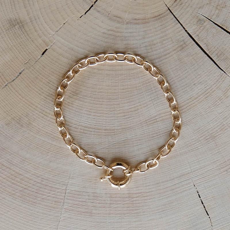 bracelet Roméo plaqué or fermoir mousqueton