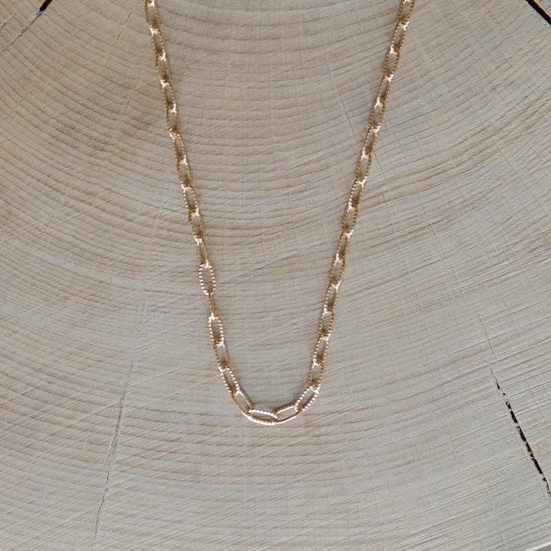 collier chaîne fine Joseph plaqué or