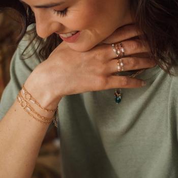 bracelet chaîne fine Joseph plaqué or