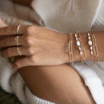 bracelet roman maille plaqué or