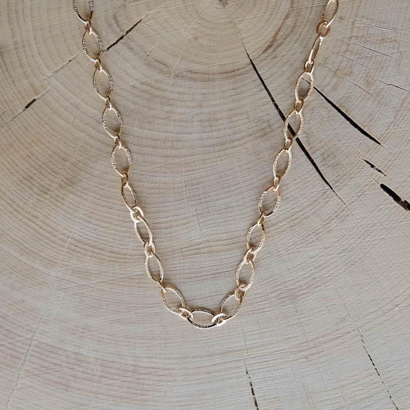 collier chaîne Gaspard plaqué or