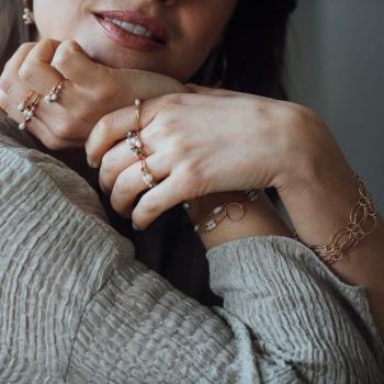 bracelet chaîne torsadée Aline plaqué or