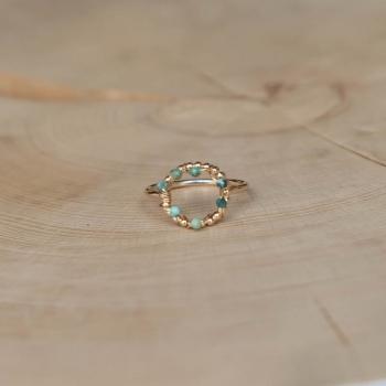 bague fine anneau pierre turquoise