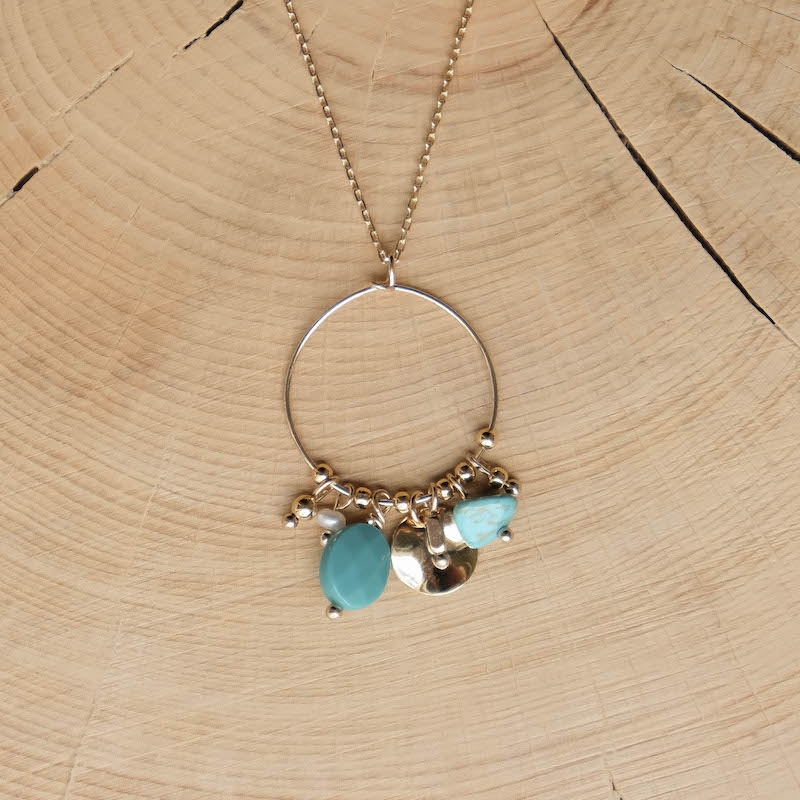 Poppy Necklace - Turquoise