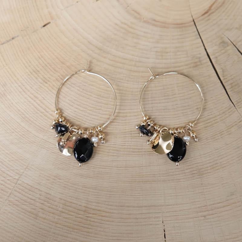 Poppy Earrings  - Black